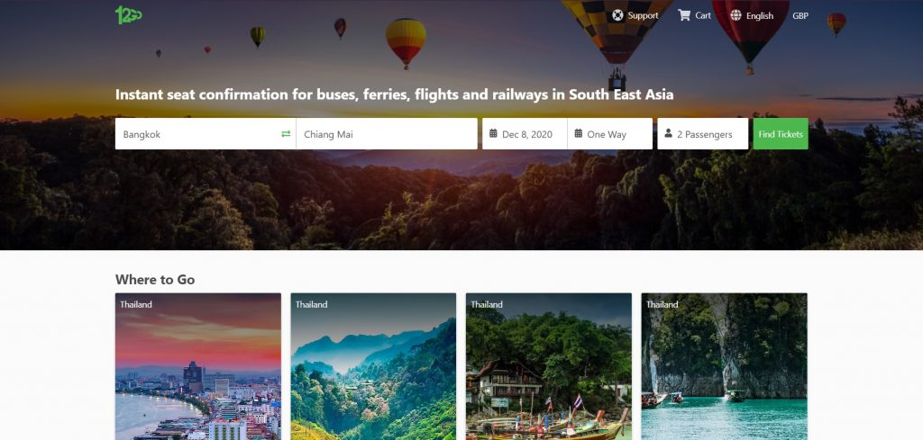 12Go Asia site The Real Japan travel resources