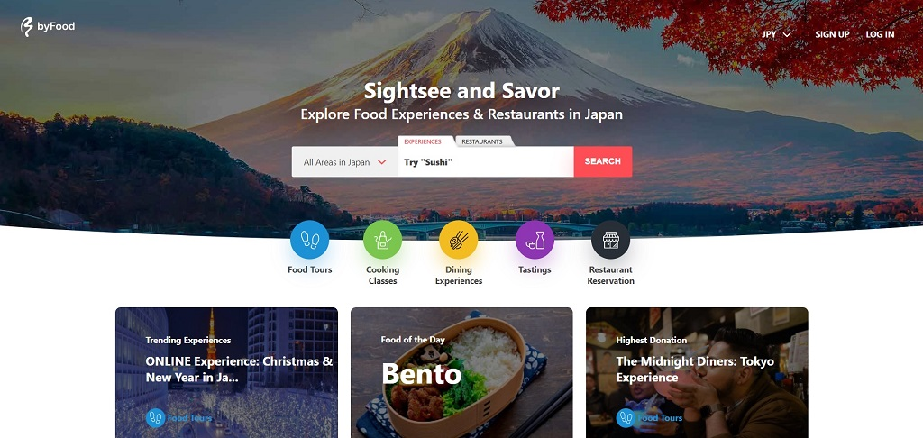 byFood site The Real Japan travel resources