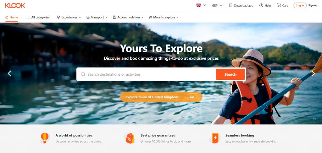 Klook site The Real Japan travel resources